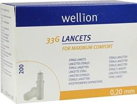 Wellion 33G Lanzetten, 200 Stück