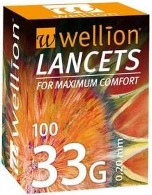 Wellion 33G Lanzetten, 100 Stück