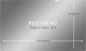 "V7 privacy filter 15.6"" 16:9 (J151656 / PS15.6W9A2-2E)"