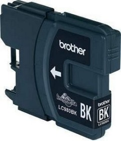 Brother Tinte LC980BK schwarz, 2er-Pack (LC980BKBP2)
