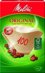Melitta filter papers 100/40 brown, 40 pieces (126033)
