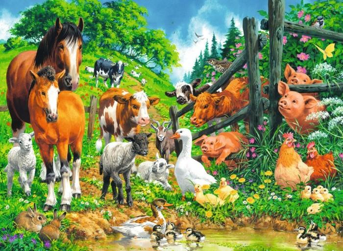 Versammlung der Tiere Geduldspiel Puzzle 100 Teile XXL Spiel Deutsch 2018 Puzzles