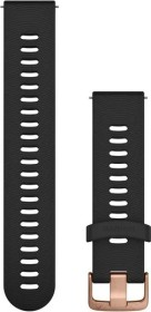 Garmin quick release replacement bracelet 20mm silicone black/rose gold 107-196mm (010-11251-1H)