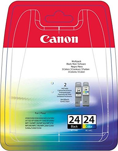 Canon BCI-24 Ink black/coloured (6881A031/6881A051) -- via Amazon Partnerprogramm