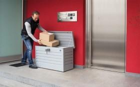 Biohort Paket-Box Gartenbox bronze-metallic (62910)