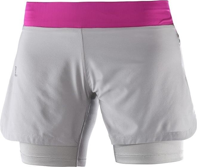 828190e5d379 Salomon Fast Wing TW Short Laufhose kurz pink/grau | Preisvergleich ...