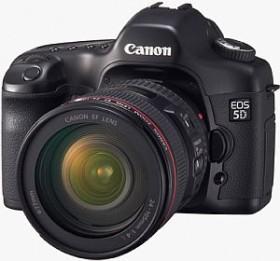 Canon EOS 5D schwarz mit Objektiv EF 50mm 1.4 USM und Speedlite 220EX (0296B205)