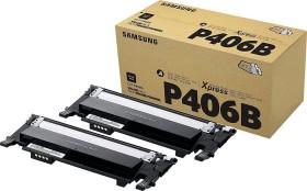 Samsung Toner CLT-P406B schwarz, 2er-Pack (SU374A)