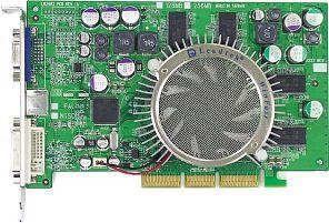 Leadtek WinFast A360TD128, GeForceFX 5700, 128MB DDR, DVI, TV-out. AGP