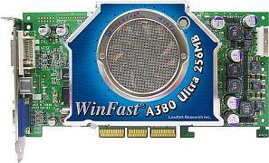 Leadtek WinFast A380 Ultra TDH myVIVO, GeForceFX 5950 Ultra, 256MB DDR, DVI, ViVo, AGP