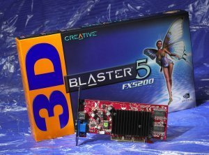 Creative 3D Blaster5 FX5200, GeForceFX 5200, 64MB DDR, TV-out, AGP (70GB000002011)