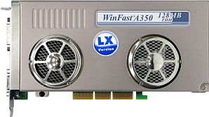 Leadtek WinFast A350-TDH LX, GeForceFX 5900SE, 128MB DDR, DVI, TV-out, AGP