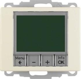 Berker Arsys Temperaturregler, Schließer, mit Zentralstück, zeitgesteuert, weiß glänzend, Unterputz (20440002)