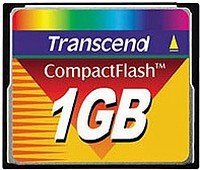 Transcend CompactFlash Card (CF) 1GB (TS1GFLASHCP)