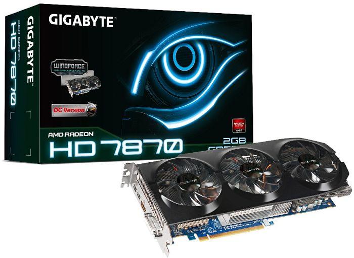 Gigabyte Radeon HD 7870 GHz Edition OC, 2GB GDDR5, DVI, HDMI, 2x Mini DisplayPort (GV-R787OC-2GD)