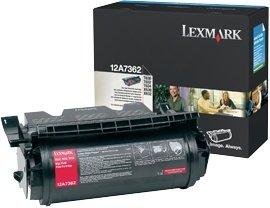 Lexmark Toner 12A7362 schwarz hohe Kapazität