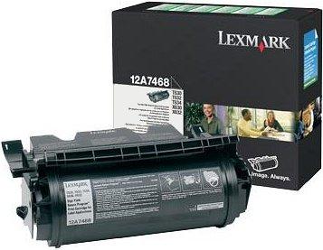 Lexmark Return Etiketten Toner 12A7468 schwarz