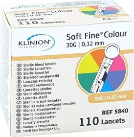 eu-medical Klinion Soft Fine Colour 30G Lanzetten, 110 Stück