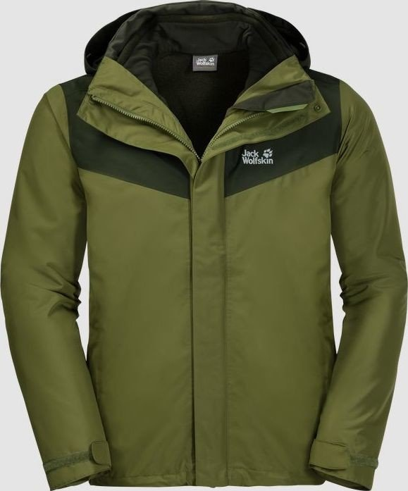 online retailer e43be 90b6e Jack Wolfskin Arland 3in1 Jacke cypress green ...
