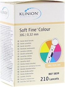 eu-medical Klinion Soft Fine Colour 30G Lanzetten, 210 Stück