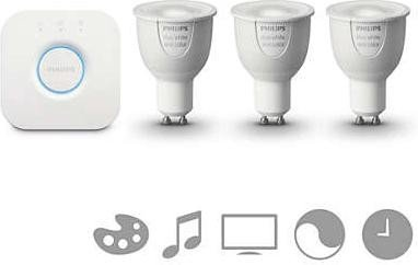 Philips Hue White and Color Ambiance GU10 6.5W Starter-Kit (508626-00)