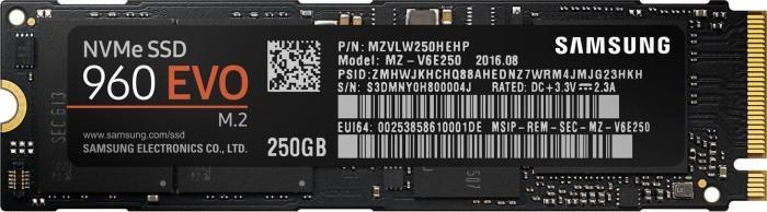 Samsung SSD 960 EVO 250GB, M.2 (MZ-V6E250BW)