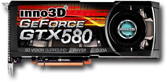 Inno3D GeForce GTX 580, 1.5GB GDDR5, 2x DVI, mini HDMI