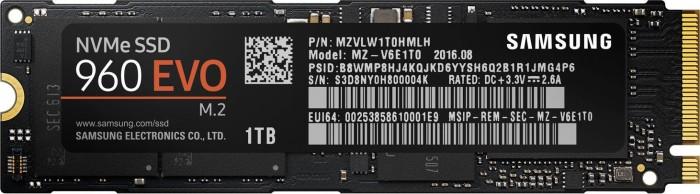 Samsung SSD 960 EVO 1TB, M.2 (MZ-V6E1T0BW)