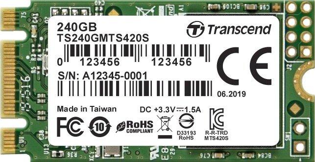 Transcend M.2 SSD 420S 240GB, M.2 (TS240GMTS420S)