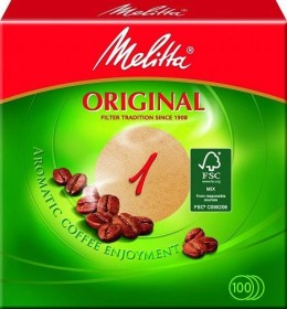 Melitta filter papers round filter 1 brown, 100 pieces (204335)