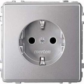 Merten Aquadesign SCHUKO-Steckdose, aluminium (MEG2300-7260)
