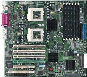 ASUS TRL-DLS, Serverworks LE-SL, Dual (FC-PGA/FC-PGA2) (reg SDR)