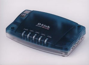 D-Link DU-H3SP USB 3-port Hub, 1xparallel, 1xserial port
