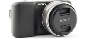 Sony Alpha NEX-3 schwarz mit Objektiv AF E 16mm 2.8 Pancake (NEX-3AB)