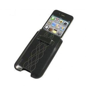 Logic3 Leather Pocket für iPhone 4/4S schwarz (IPP205K)