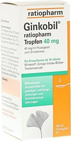 Ginkobil ratiopharm 40mg Tropfen, 100ml