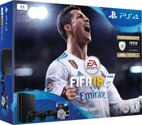 Sony PlayStation 4 Slim - 1TB inkl. 2 Controller FIFA 18 Bundle schwarz