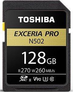 Toshiba Exceria Pro N502 R270/W260 SDXC 128GB, UHS-II U3, Class 10 (THN-N502G1280E6)