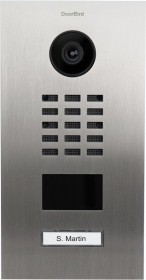 DoorBird D2101KV IP Video door terminal with 1 call button, Keypad module, stainless steel V2A, brushed, incl. flush housing (D2101KV-V2A)