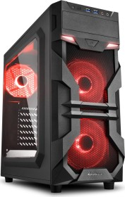 Sharkoon VG7-W rot, Acrylfenster