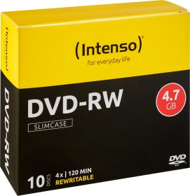 Intenso DVD-RW 4.7GB 4x, 10er Slimcase (4201632)