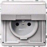 Merten Aquadesign Steckdose mit Schutzkontaktstift, aluminium (MEG2612-7260)
