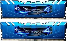 G.Skill RipJaws 4 blau DIMM Kit 16GB, DDR4-3000, CL15-16-16-35 (F4-3000C15D-16GRBB)