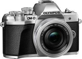 Olympus OM-D E-M10 Mark III silber mit Objektiv M.Zuiko digital 14-42mm EZ (V207072SE000)