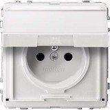 Merten Aquadesign Steckdose mit Schutzkontaktstift, polarweiß (MEG2612-7219)