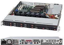 Supermicro 113TQ-600CB black, 1U, 600W