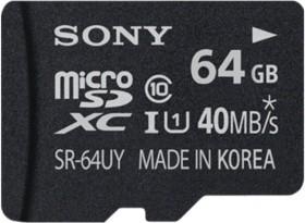 Sony R40 microSDXC 64GB Kit, UHS-I, Class 10 (SR64UYA)
