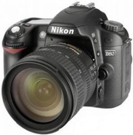 Nikon D80 schwarz mit Objektiv AF-S VR DX 18-55mm 3.5-5.6G (VBA140K003)