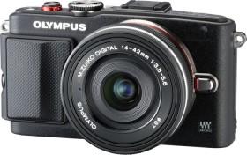 Olympus PEN E-PL6 schwarz mit Objektiv M.Zuiko digital 14-42mm EZ (V205055BE010)