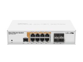 MikroTik Cloud Router switch CRS112 desktop Gigabit Smart switch, 8x RJ-45, 4x SFP, PoE/PoE PD (CRS112-8P-4S-IN)